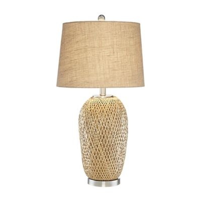 Pacific Coast® Lighting Kathy Ireland Home® Makani Nightlight Table Lamp with Burlap Shade