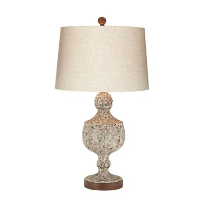 Kathy Ireland Palermon Nights Table Lamp in Aged Beige