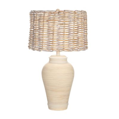 Pacific Coast® Lighting Kathy Ireland Home® Pohaku Table Lamp with Wicker Shade