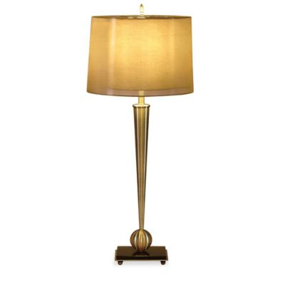 Bassett Mirror Company Mabon Table Lamp in Antique Brass