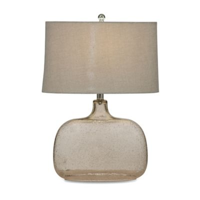 Bassett Mirror Company Portman Table Lamp in Clear with Fabric Shade