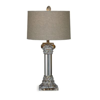 Bassett Mirror Company Corinth Table Lamp with Fabric Shade