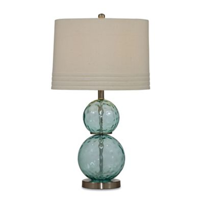 Bassett Mirror Company Barika Table Lamp in Mist with Fabric Shade
