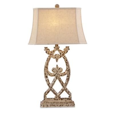 Bassett Mirror Company Consuela Table Lamp in Distressed Parchment