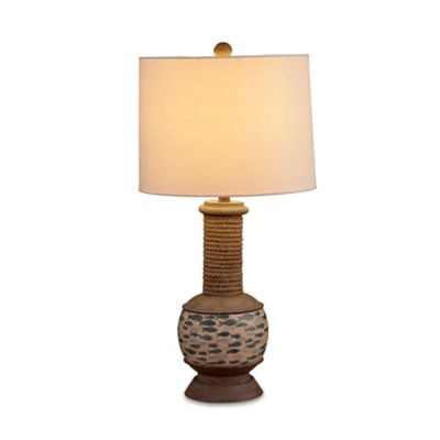 Bassett Mirror Company Gulfstream Table Lamp in Cream/Blue