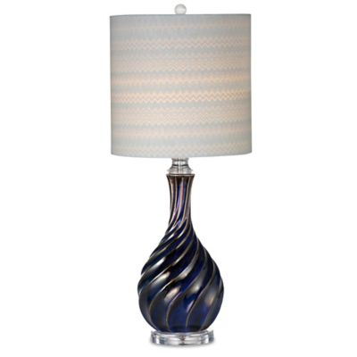 Bassett Mirror Company Tiburon Table Lamp in Cobalt Blue