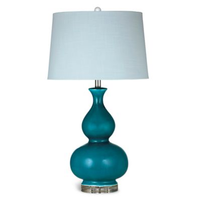Bassett Mirror Company Elsa Table Lamp in Caribbean Blue