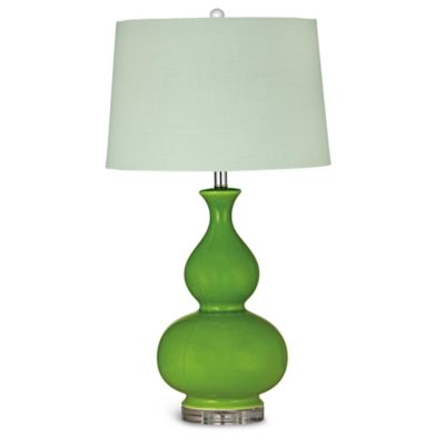Bassett Mirror Company Elsa Table Lamp in Avocado Green