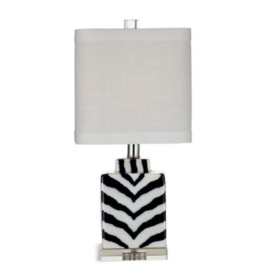 Bassett Mirror Company Hanna Table Lamp in Navy/Cream