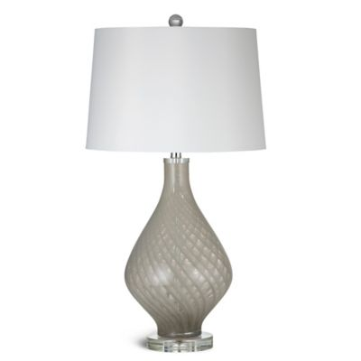 Bassett Mirror Company Clara Table Lamp in Smoky Beige with Linen Shade