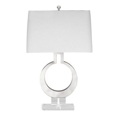 Bassett Mirror Company Rialto Table Lamp in Polished Chrome