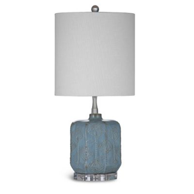 Bassett Mirror Company Vega Table Lamp in Textured Blue