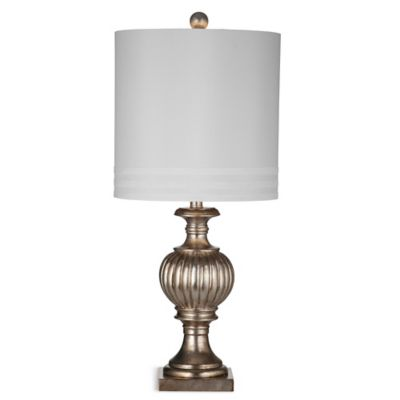 Bassett Mirror Company Sympatico Table Lamp in Silver