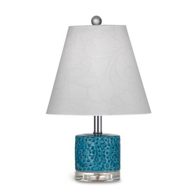 Bassett Mirror Company Noma Table Lamp in Turquoise