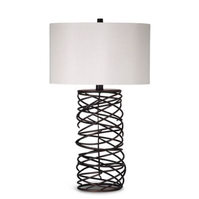 Bassett Mirror Company Whittier Table Lamp in Bronze
