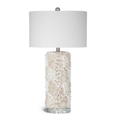 Bassett Mirror Company Shell Table Lamp in Cream