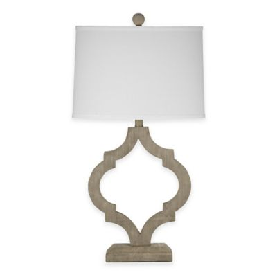 Bassett Mirror Company Denton Table Lamp in Light Grey