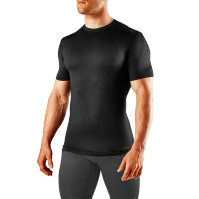 Tommie Copper Men's Medium Compression Short Sleeve Crew Neck Shirt in Black