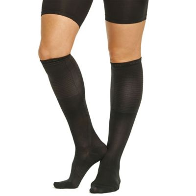 Tommie Copper Women's Medium Compression Dress Calf Socks in Charcoal