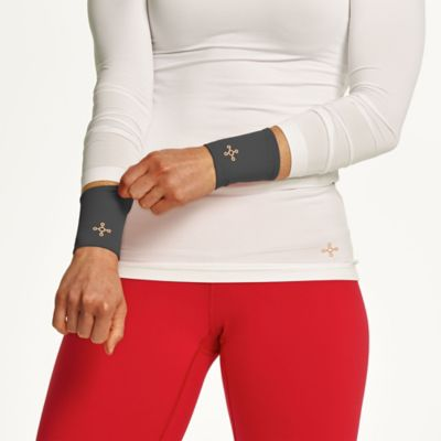 Tommie Copper Women's Small Compression Wrist Sleeves in Slate Grey