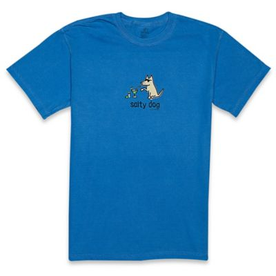 "Teddy the Dog Extra-Large ""Salty Dog"" Ladies Tee in Caribbean"