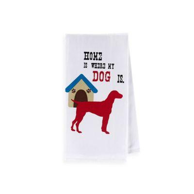 Sam Hedaya Dog Couture Flat Weave Kitchen Towel