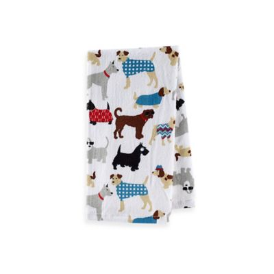 Sam Hedaya Dog Couture Terry Kitchen Towel