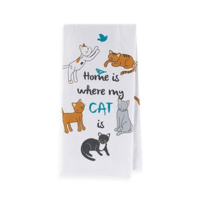 Sam Hedaya Cat Couture Flat Weave Kitchen Towel