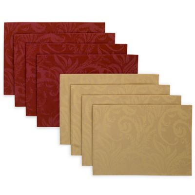 Autumn Scroll Placemats (Set of 4)