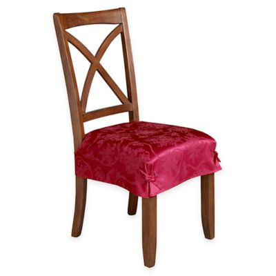 Christmas Ribbons Seat Covers in Ruby (Set of 2)