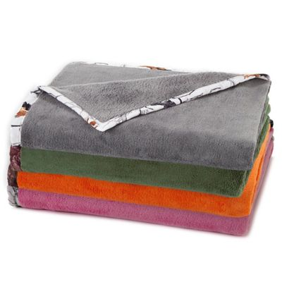 True Timber Plush Throw in Grey
