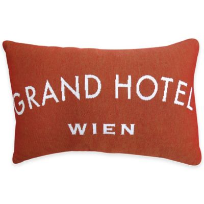 Park B. Smith Grand Hotel Tapestry Oblong Throw Pillow in Russet