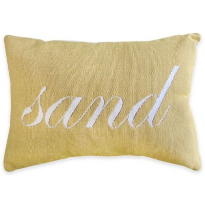 Park B. Smith Sand Tapestry Oblong Throw Pillow in Lemon