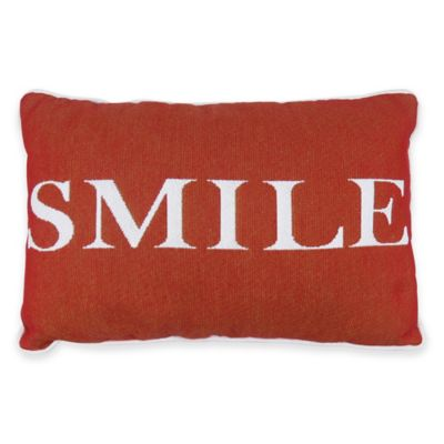Park B. Smith Smile Tapestry Oblong Throw Pillow in Russet