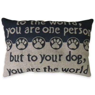 "Park B. Smith® ""The World"" Tapestry Oblong Throw Pillow"