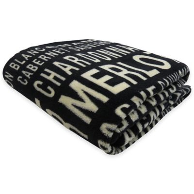 Park B. Smith® Vintage House Merlot Printed Fleece Throw