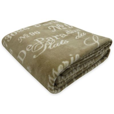 Park B. Smith® Vintage House Brasserie Printed Fleece Throw