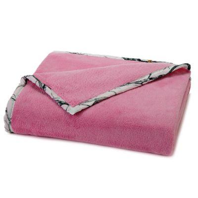 True Timber Plush Throw in Pink