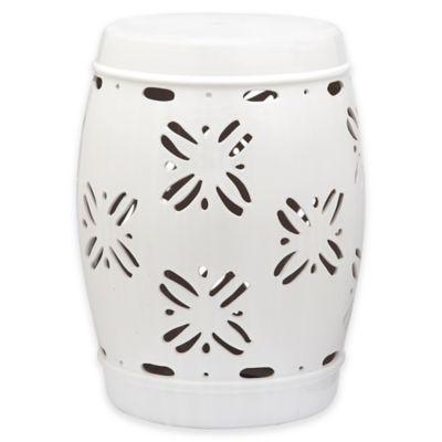 Safavieh Sakura 18-Inch Garden Stool in White