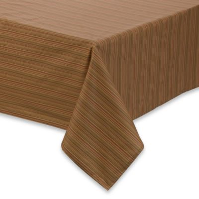 Tuscan Stripe 52-Inch x 52-Inch Laminated Fabric Tablecloth