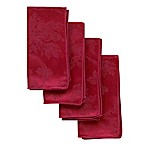 Christmas Ribbons Napkins in Ruby (Set of 4)