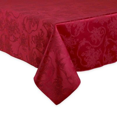 Christmas Ribbons 70-Inch Round Tablecloth in White