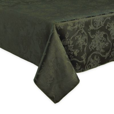 Christmas Ribbons 52-Inch x 70-Inch Tablecloth in Olive