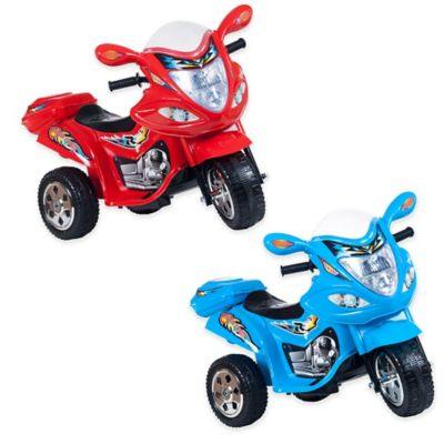 Lil' Rider Baron Motorized 3-Wheel Ride-On Motorcycle in Blue