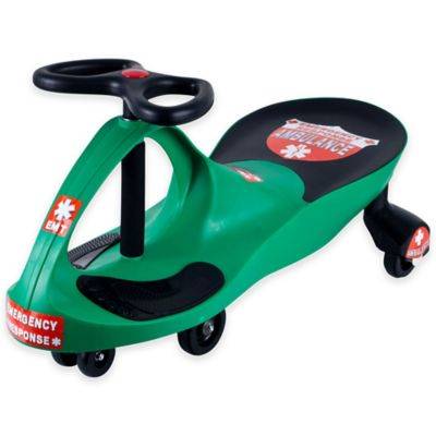 Lil' Rider Responder Ambulance Wiggle Ride-On Car in Green