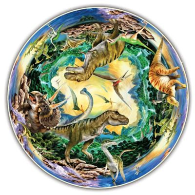 A Broader View® Kids Round Table Prehistoric World Puzzle