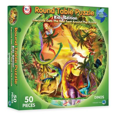 A Broader View® Kids Round Table Dinosaur Puzzle
