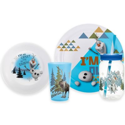 "Zak! Designs® Disney® ""Frozen"" Olaf 4-Piece Dinnerware Set"