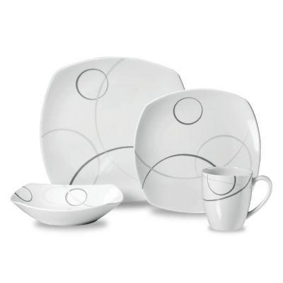 Mikasa® Geometric Circles 4-Piece Place Setting