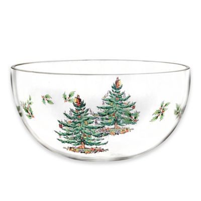 Spode® Christmas Tree Glass Bowl